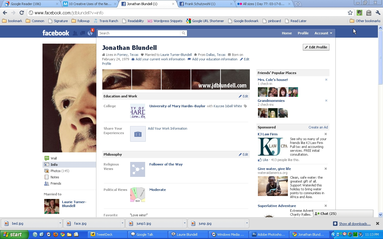 facebook profile page template