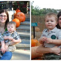 me and my boys - what a difference a year makes!